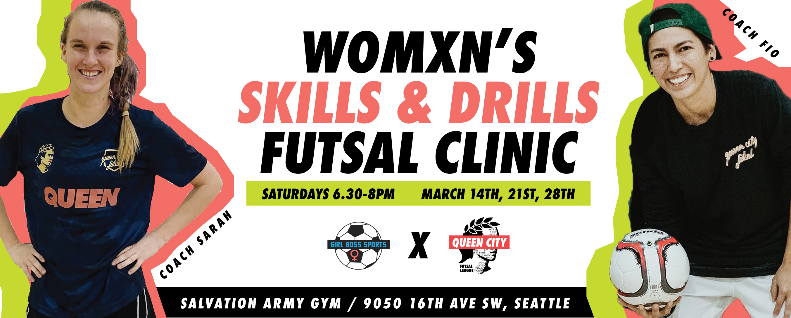 "Girl Boss Sports partners with Queen City Futsal to bring you ""Skills and Drills"" March Futsal Clinics"